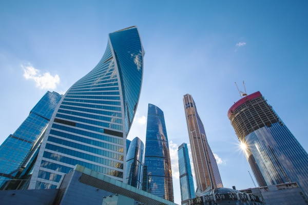 skyscrapers of the moscow city international