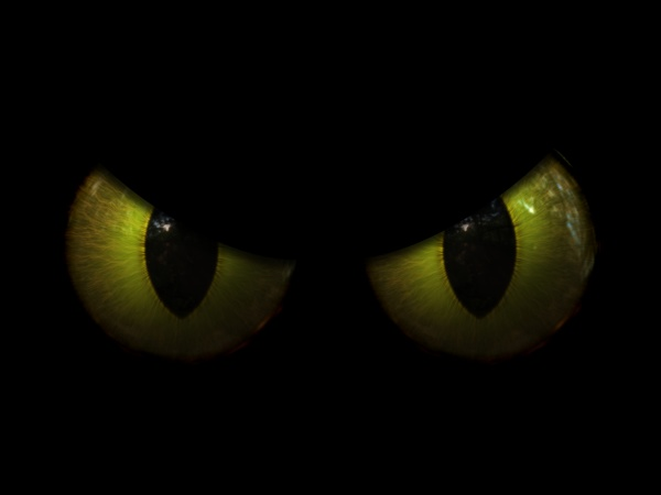 3d halloween background with evil eyes