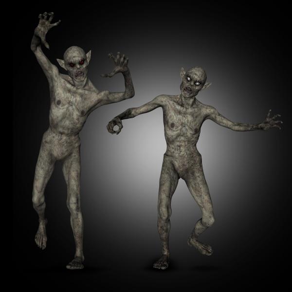 3d halloween zombies
