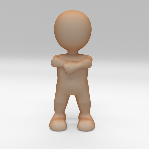 3d morph man with arms folded
