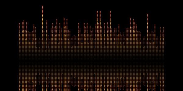 abstract soundwaves banner design