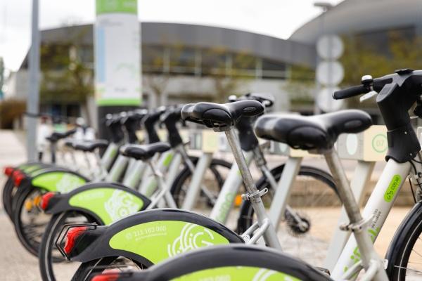 gira public sharing bikes in the