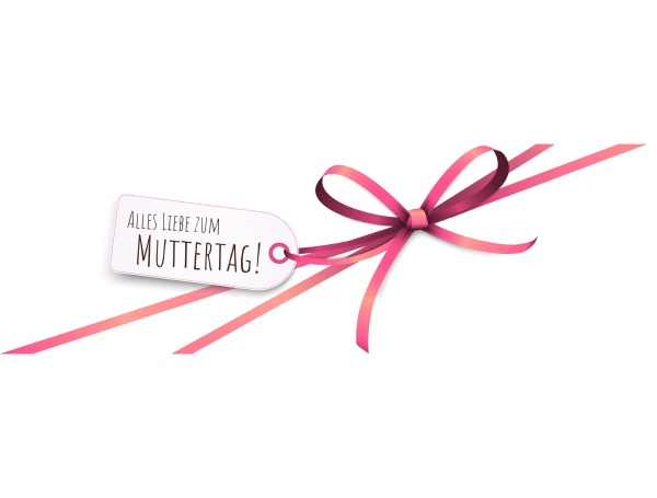 ribbon bow with greetings mothers day