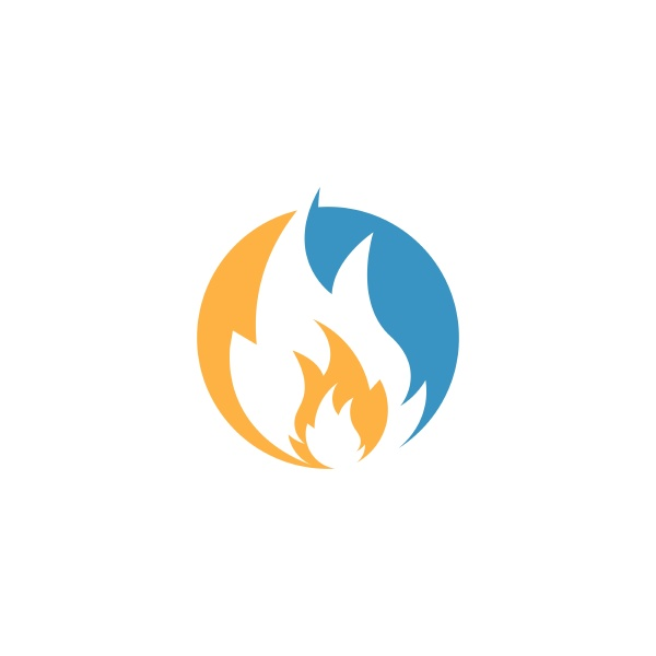 fire flame icon vector illustration