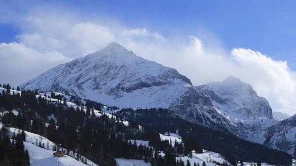 peaks of mount spitzhorn and arpelistock