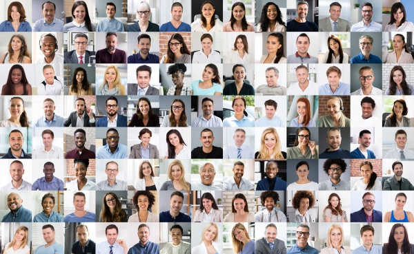 professional group headshot video conference