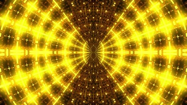 abstract gold kaleidoscope