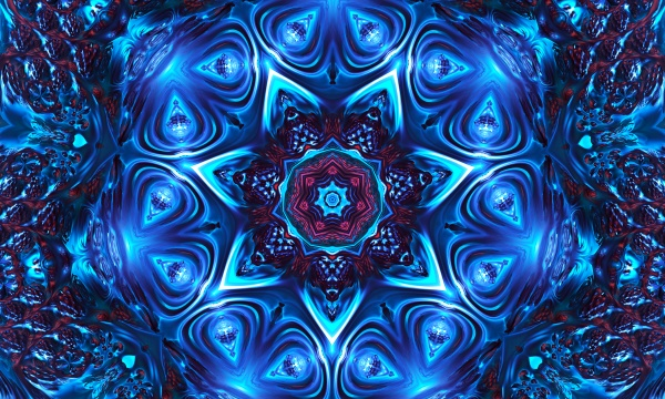 mystic background celtic knot shape