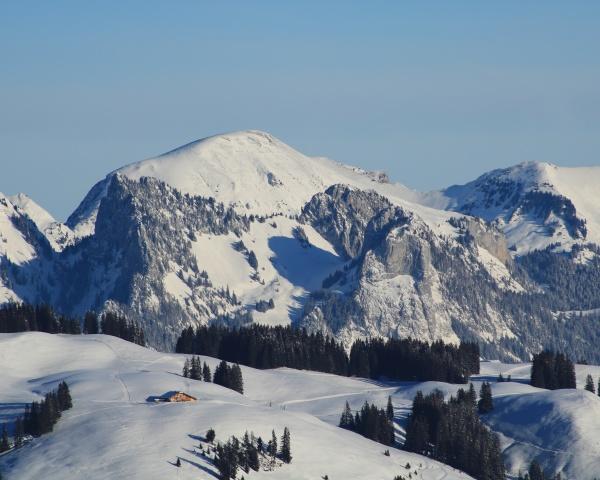winter landscape near zweisimmen switzerland