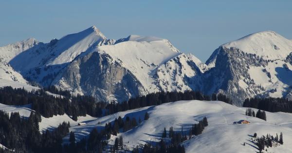 wintery landscape seen from horeneggli