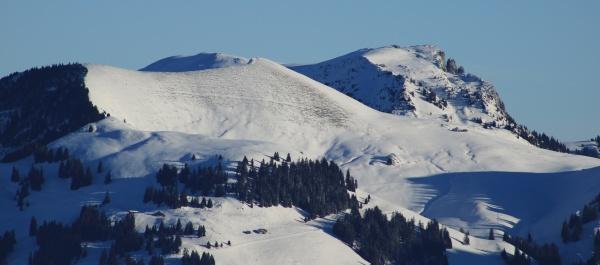 mountains gandhore and spillgerte in winter