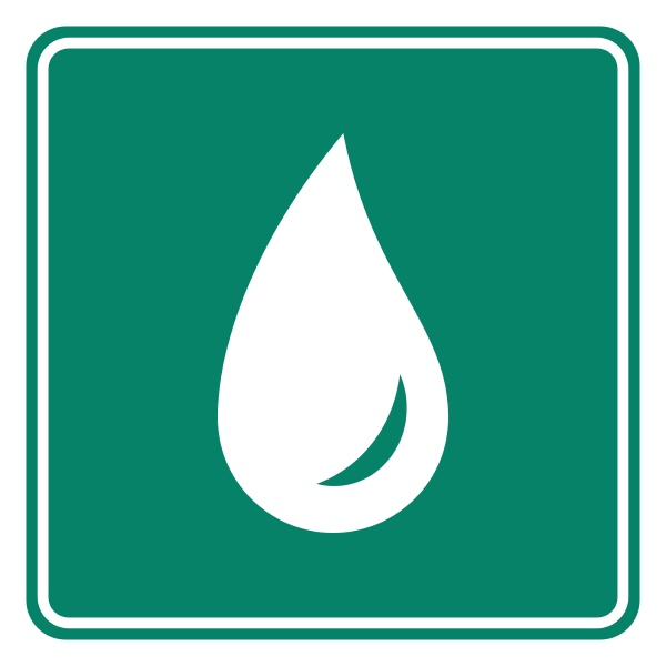 water drop and road sign