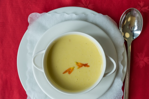 vegetarian corn cream soup vegetable