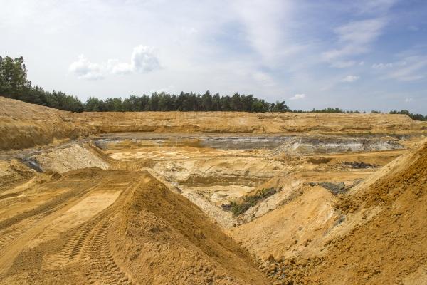 clay mining in brueggen in germany