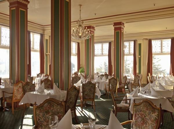 empty formal hotel or restaurant dining