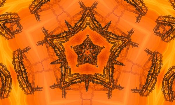 architectural orange blueprint background orange kaleidoscope