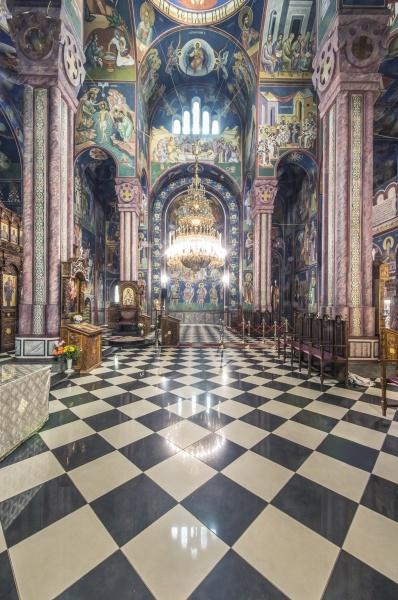 serbian orthodox church interior in ljublijana
