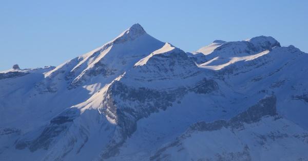 mount oldehore and diablerets glacier seen