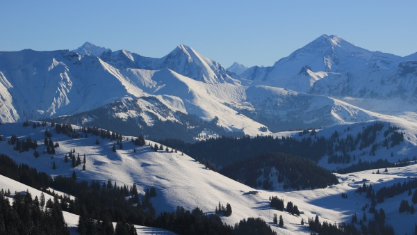 high mountains in the bernese oberland