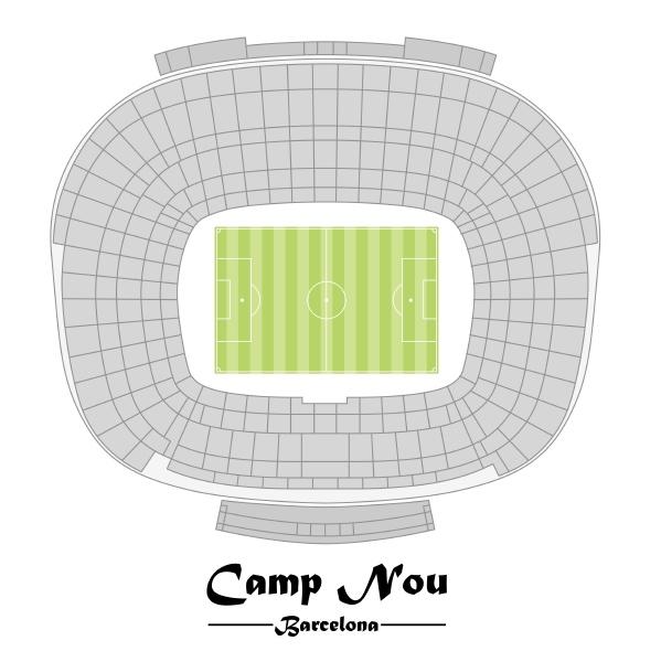flor plan of the stadium nou