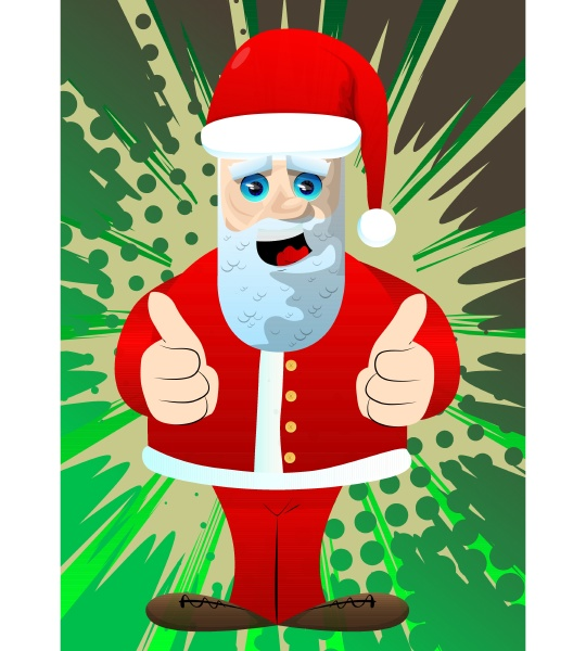 santa claus making thumbs up sign
