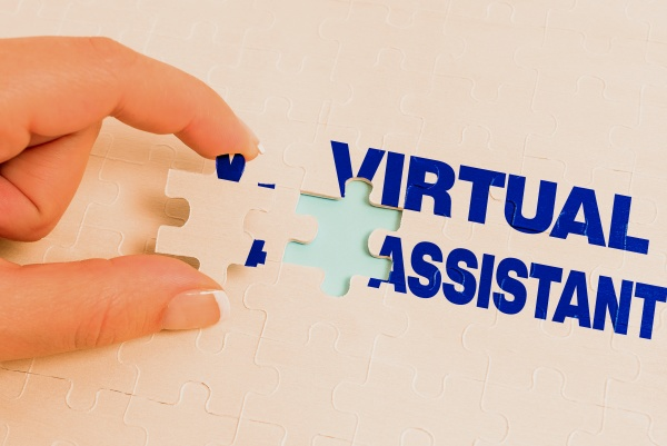 text sign showing virtual assistant business