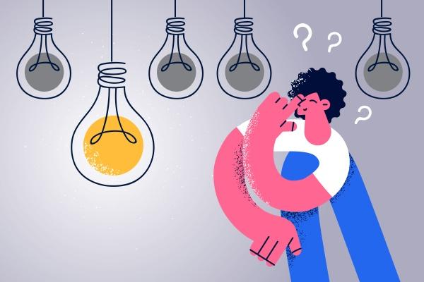 creativity and having innovative idea concept