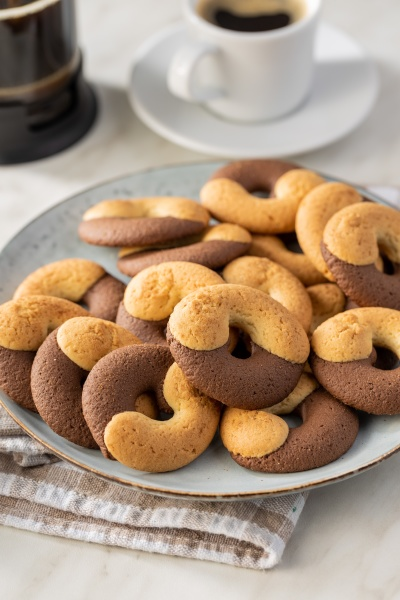 sweet round biscuits cookies with