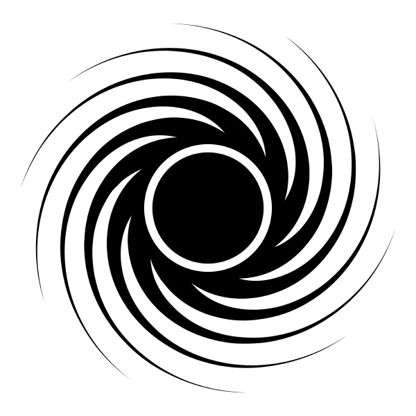 black hole spiral shape vortex portal