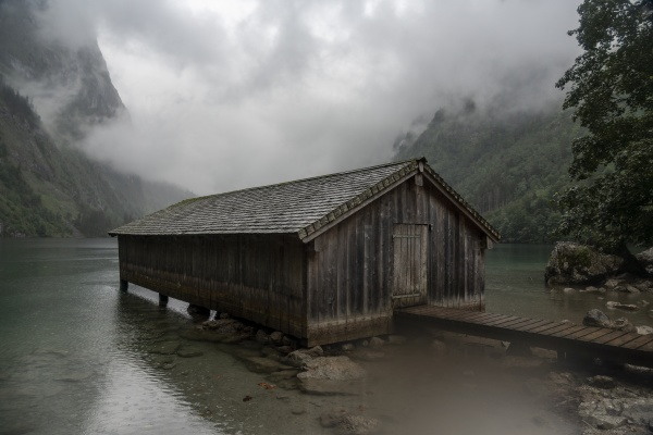 germany bavaria pier with old wooden