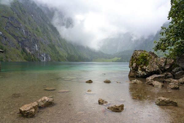 germany bavaria obersee in berchtesgaden national