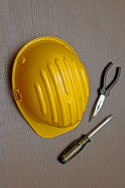 protective helmet and working tools