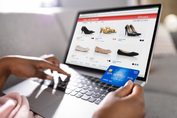 african person shopping in ecommerce online