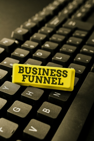 writing displaying text business funnel