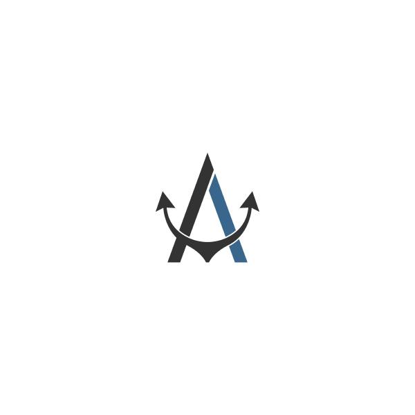 anchor icon logo design template vector