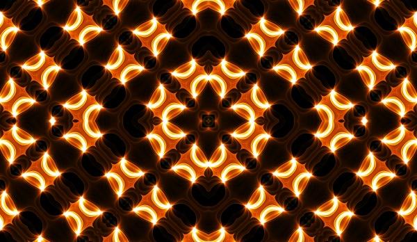 warm yellow kaleidoscope autumn spiral tie