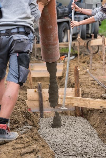 concreting a foundation detail