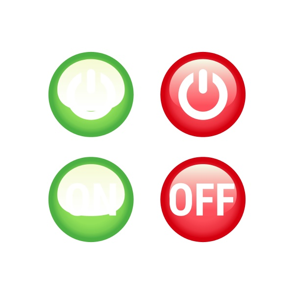 on and off switch vector button