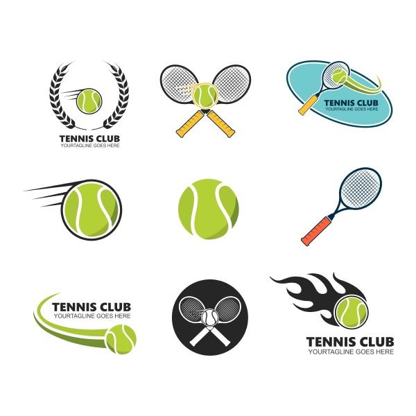 tennis ball badge icon vector
