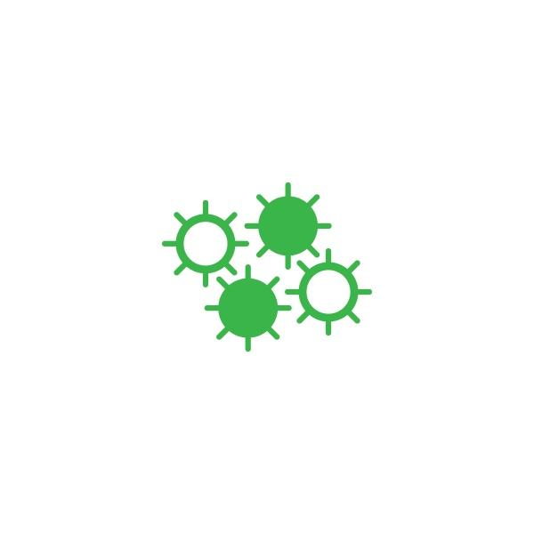 bacterial probiotic icon vector flat design