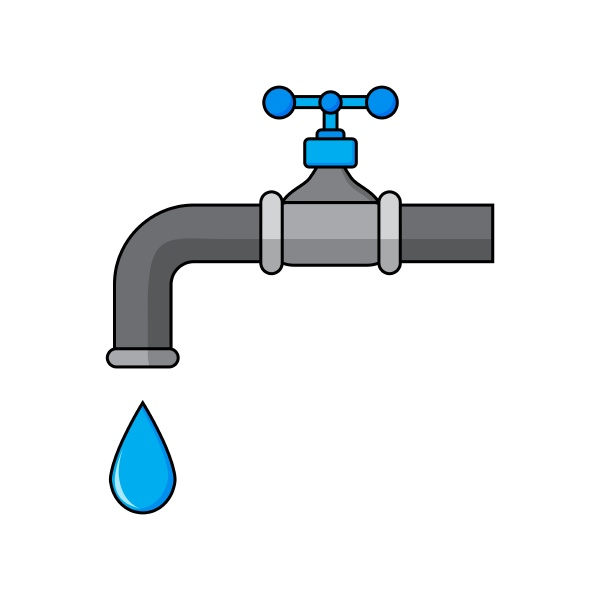 faucet with water droplet icon