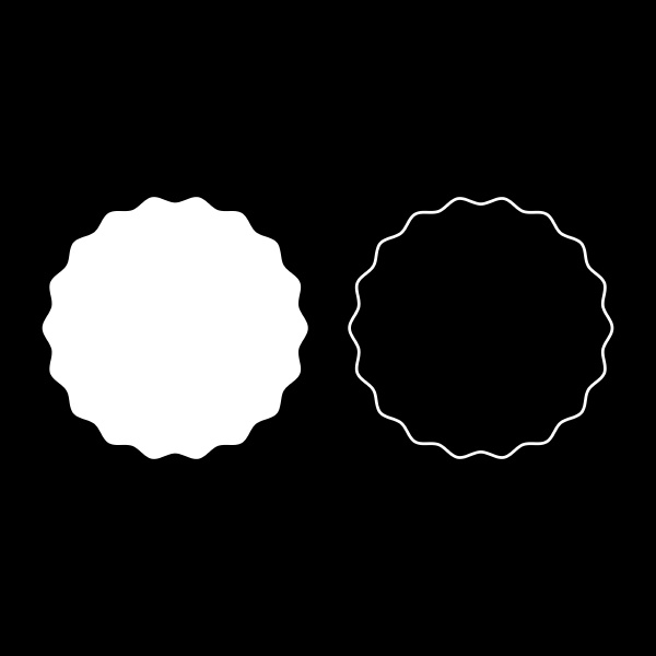 round element with wavy edges circle