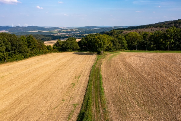 the landscape between hesse and thuringia