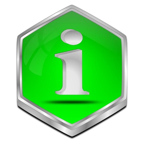 information button green 3d illustration