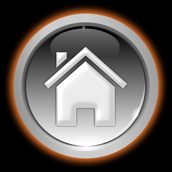 home button glossy silver orange