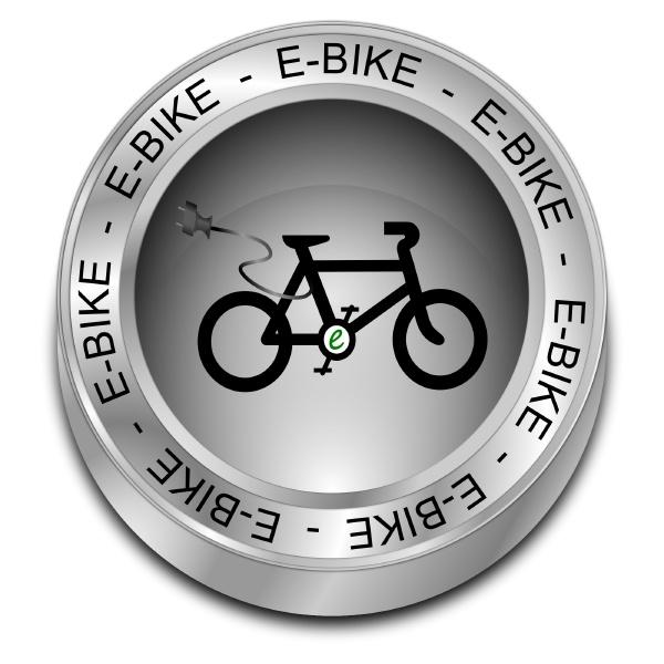 e bike button silver 3d