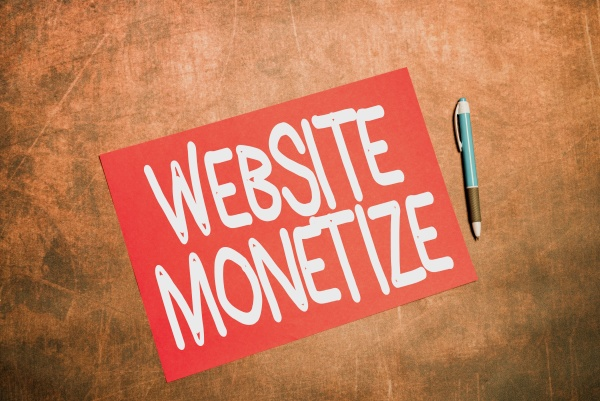 text showing inspiration website monetize conceptual