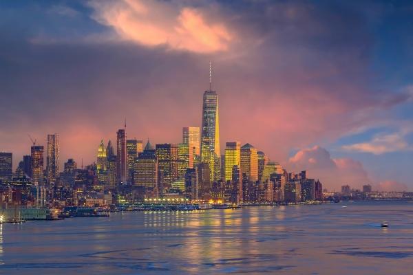 new york city skyline cityscape of
