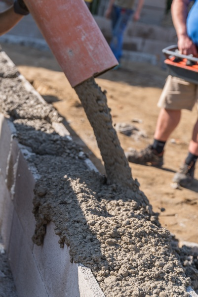concreting on construction site detail