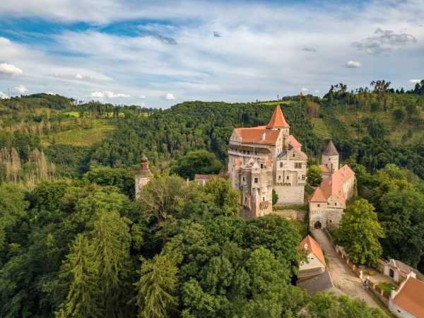 historical medieval castle pernstejn czech republic
